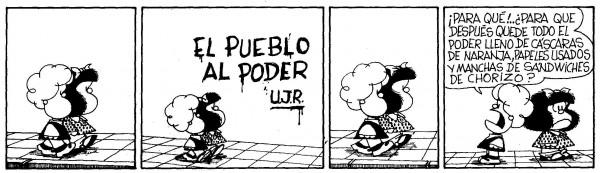 mafalda1 600x173 El pueblo al poder, según Quino.